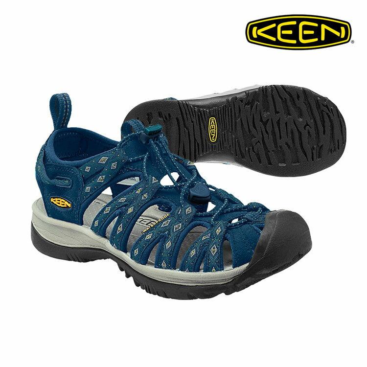 《台南悠活運動家》KEEN 美國 女新款專業護趾涼鞋-藍-1014206