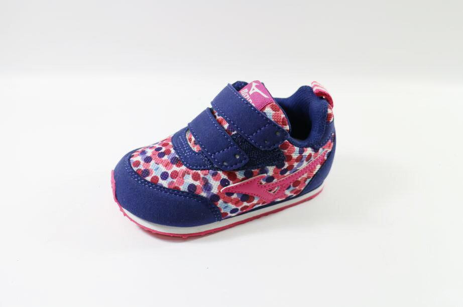 MIZUNO 美津濃 幼兒鞋 (粉深藍迷彩) K1GD153266 [陽光樂活]