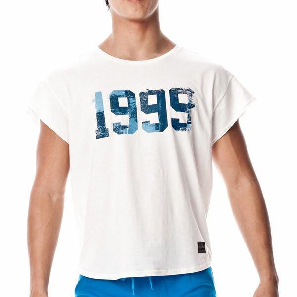 P.S 數字系列-1999舒適圓領短袖T恤(白色),T恤,141MT1833W1,Private Structure