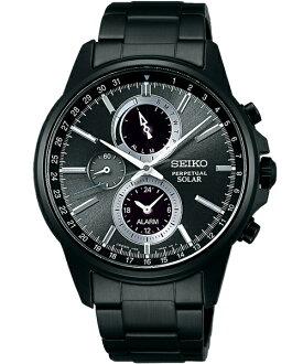 Seiko Spirit V198-0AC0SD(SBPJ015J)極致太陽能多功能流行腕錶/黑面41mm