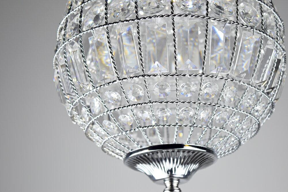 鍍鉻水晶圓形吊燈-BNL00104 3