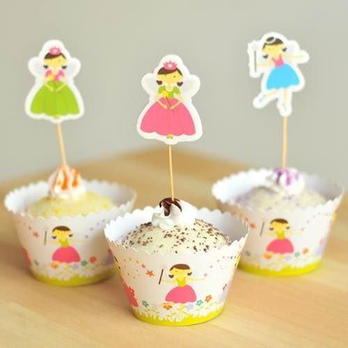 =優生活=烘焙包裝紙杯蛋糕 蛋糕裝飾 插牌圍邊+插牌裝飾 派對用品 兒童生日 彌月蛋糕 收綖蛋糕【可愛女孩】