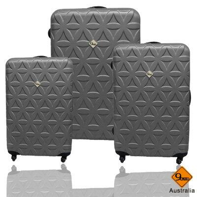 ✈Gate9花花系列ABS霧面輕硬殼三件組旅行箱 / 行李箱 5