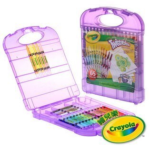 繪兒樂Crayola迷你旋轉蠟筆套裝25色【悅兒園婦幼生活館】