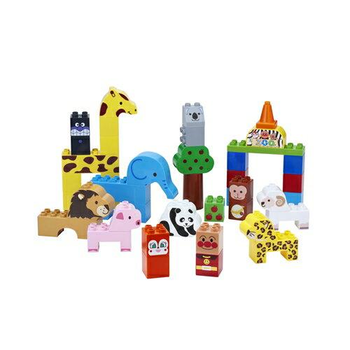【真愛日本】17042900002 積木動物園組-ANP 麵包超人 小病毒 玩具 模型