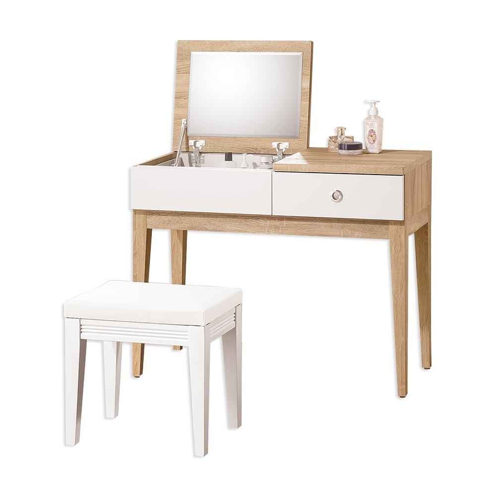 金美3尺掀式鏡台(含椅)/H&D東稻家居-消費滿3千送點數10%