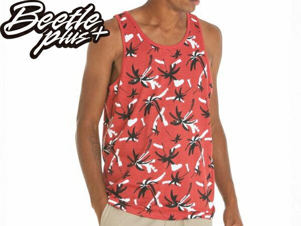 BEETLE PLUS 西門町經銷 全新 美國品牌 OBEY GULF 夏威夷 黑白 紅黑 椰子樹 背心 TANK TEE 134050032RMI OB-356 - 限時優惠好康折扣
