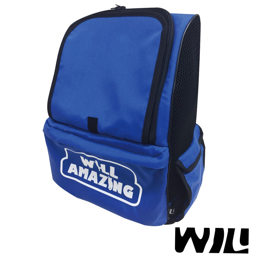 【WILL設計 + 寵物用品】雙肩透氣減壓寵物背包 *XR-01藍色 *(共三色)