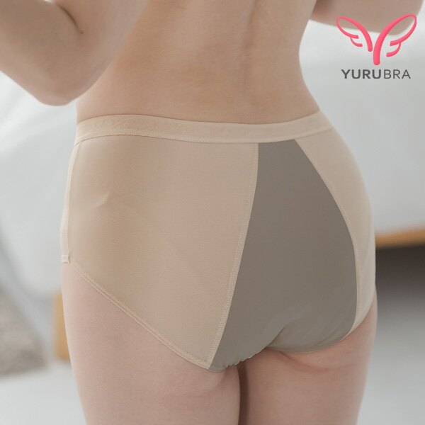 TACTEL防漏生理褲。竹炭-生理褲-透氣-舒適-MC-抗菌-中腰-台灣製。※K041《玉如阿姨》