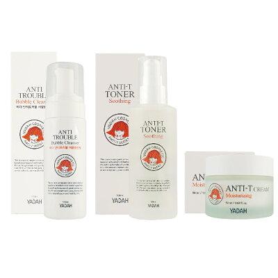 YADAH 速效淨膚保濕面霜50ml / 速效淨膚化妝水100ml / 速效淨膚潔面泡沫150ml