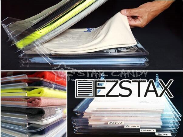 EZSTAX 萬用衣物收納板(10入1組) |衣物收納架|收納架|疊衣神器|疊衣板|出國|旅行|生日 兒童節【附發票 當日出貨】【A38】