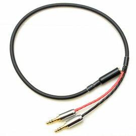 志達電子CAB098T-Lab3.5mm四極母座轉3.5MM公*2(麥克風+耳機)轉接線