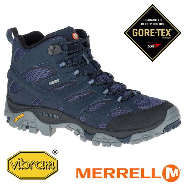 【Merrell美國】MOAB2MIDGORE-TEX戶外多功能鞋防水健行鞋深藍色男款/ML12123