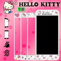 凱蒂貓週邊商品推薦到9H滿版 Hello Kitty 三麗鷗正版授權 5.5吋 iPhone 6/6S/7/8 PLUS/6+ 6S+ 7+ IP8+ 凱蒂 彩繪玻璃手機螢幕保護貼/支援3D觸控/易貼/強化玻璃/鋼化玻璃