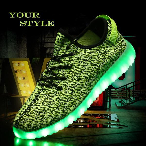 LED Light Lace Up Sportswear Sneaker Casual Shoes 0