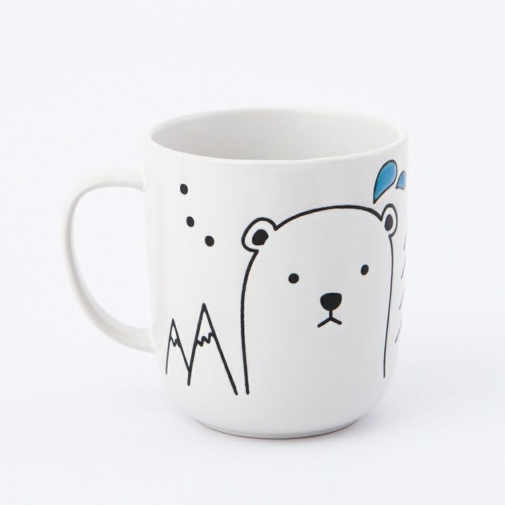 【品牌週全館8折up】心愛北極熊馬克杯420ml-生活工場