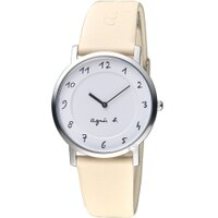 agnès b.眼鏡推薦到agnes b.簡約手繪時標石英錶 7N00-KEX0W  BG4019P1 米色就在寶時鐘錶推薦agnès b.眼鏡