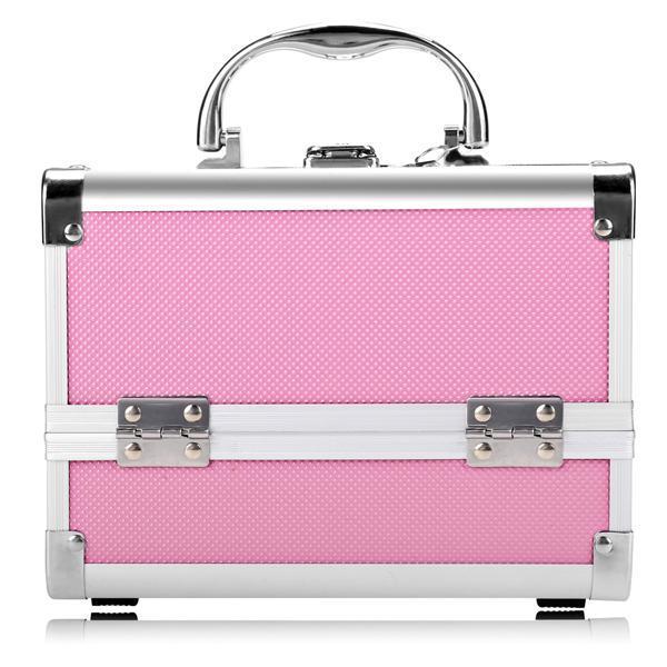 Mini Portable Aluminum Cosmetic Box + Mirror + 2 Keys 3
