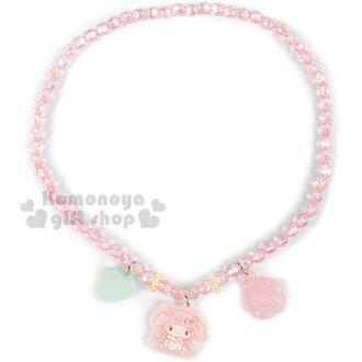 〔小禮堂〕美樂蒂 兒童造型串項鍊《粉.愛心.玫瑰.坐姿》