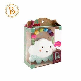 【淘氣寶寶】【美國B.Toys感統玩具】雲朵派樂地固齒器
