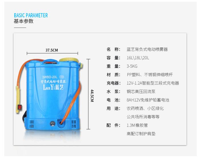 台灣現貨供應 20L噴霧器噴藥器電動打藥器電動噴霧器電動噴霧機農用噴藥器農用噴藥機背負式多功能充電打藥機高壓鋰電噴霧器
