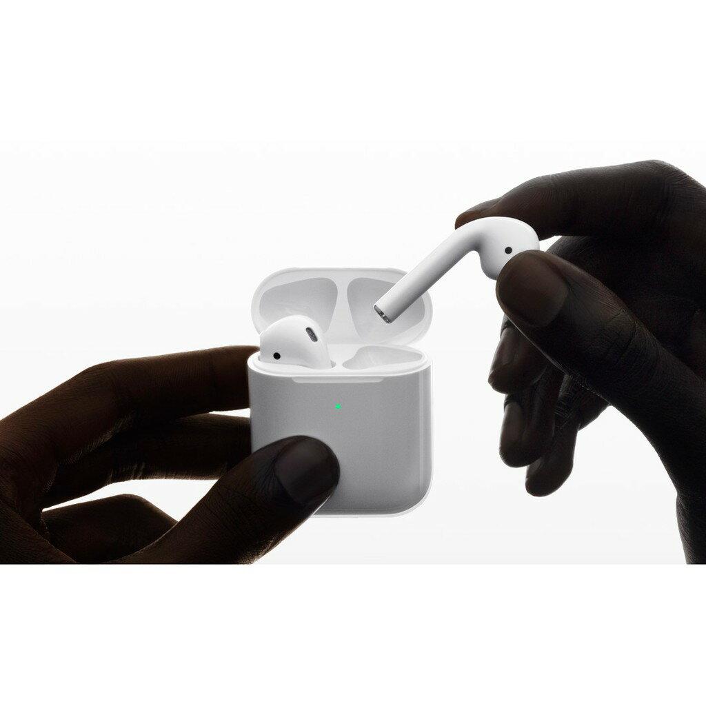 Apple AirPods全新未拆 藍芽無線耳機 第二代有線充電盒 加購正版保護殼有優惠 原廠藍牙耳機 台灣公司貨《維克精選》 0