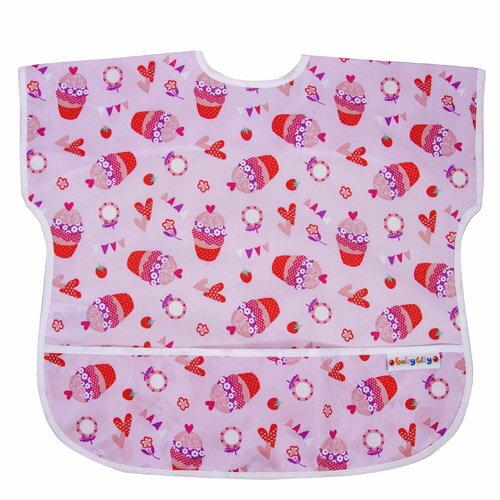 Baby City娃娃城 - 防水短袖圍兜(1-3A) 紅色杯子蛋糕 0