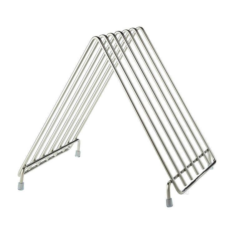 砧板架 不銹鋼廚房置物架 商用塑料砧板架菜板架酒店案板菜墩板架1入