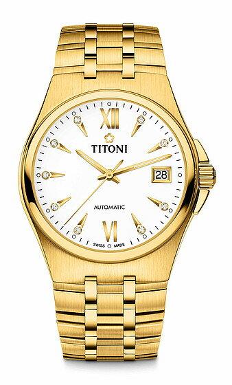 TITONI瑞士梅花錶動力系列 83730G-271 自動機芯時尚腕錶/金38mm