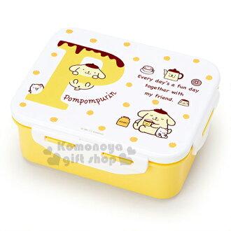 〔小禮堂〕布丁狗 日製四面扣便當盒《白黃.點點.茶壺.小栗鼠.650ml》可微波加熱