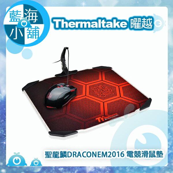 Thermaltake 曜越 Tt eSPORTS 聖龍鱗DRACONEM2016雙面操控鋁板 電競滑鼠墊(MP-DCM-BLKHMS-01)