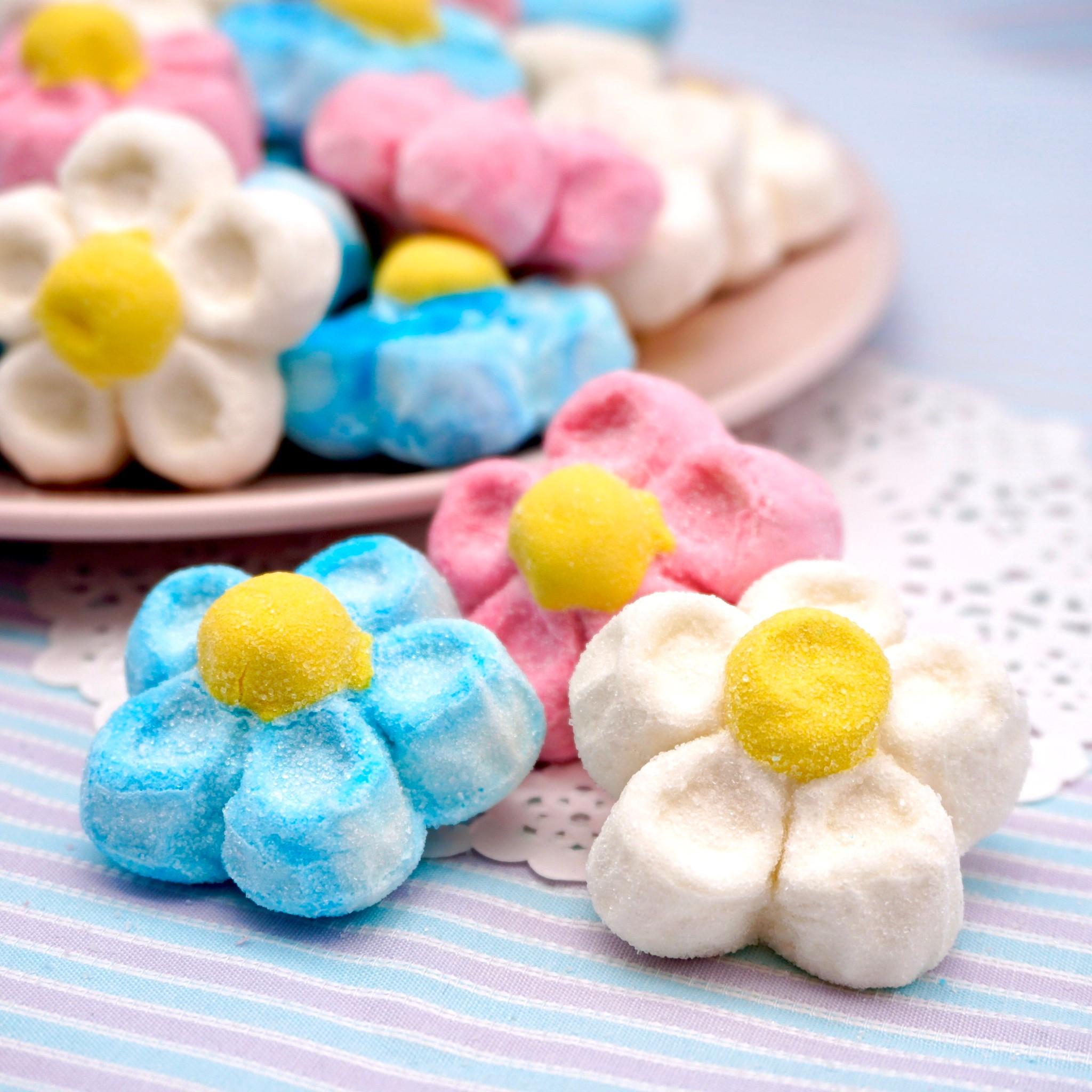 嘴甜甜 寶格麗小花棉花糖 200公克 棉花糖系列 三色小花 棉花糖 義大利 寶格麗 香蕉 草莓 香菇 小花 冰淇淋 現貨