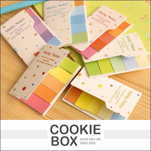 彩虹 便簽貼 便籤貼 標籤便利貼 便條紙 MEMO 自黏貼 粉色系 少女 文具 *餅乾盒子*