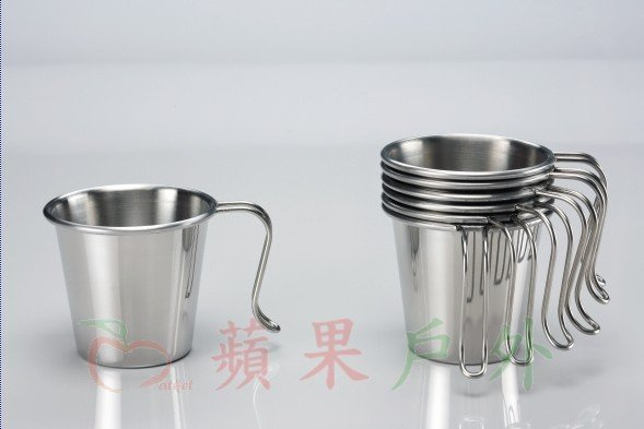 【【蘋果戶外】】文樑 ST-2021 白金杯 大口杯 304材質 300cc 不鏽鋼杯 不鏽鋼碗 (台灣製) 餐具