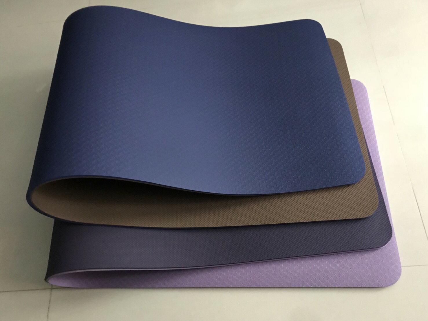 居家防疫 居家運動  可水洗 瑜珈墊 - 10mm 雙色系列 各色 瑜珈 健身 運動 伸展 拉筋 靜坐 放鬆【QMAT】