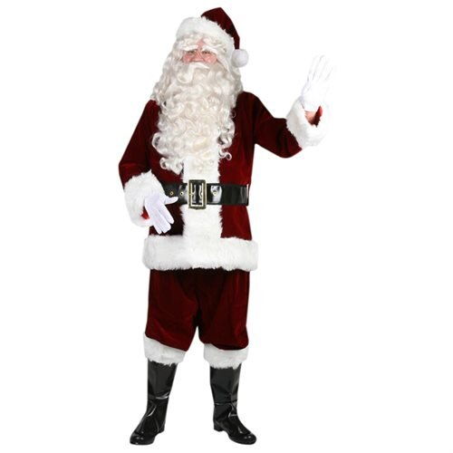 Fun World 18222 Ultra Velvet Santa Suit Halloween Costume Size Large 0