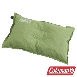 【美國Coleman】自動充氣枕頭 附收納袋 CM-0428 露營.戶外.充氣枕.頭靠枕.護頸枕.午睡枕.旅行枕.飛機枕.靠腰枕.腰靠枕.辦公室.攜帶方便