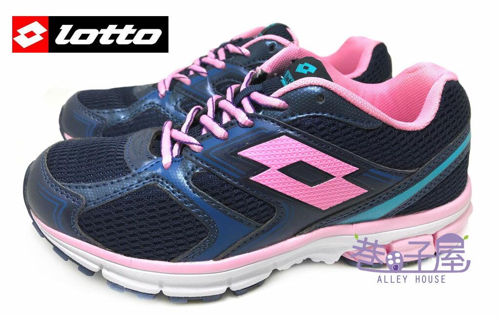 【巷子屋】義大利第一品牌-LOTTO樂得 女款ZENITH雙密度避震透氣超輕量運動慢跑鞋 [3426] 海軍藍 超值價$590