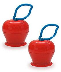 美國Grapple矽膠創意小物三爪玩具俏吸盤-紅蘋果(2入組)0856184003036*2★衛立兒生活館★