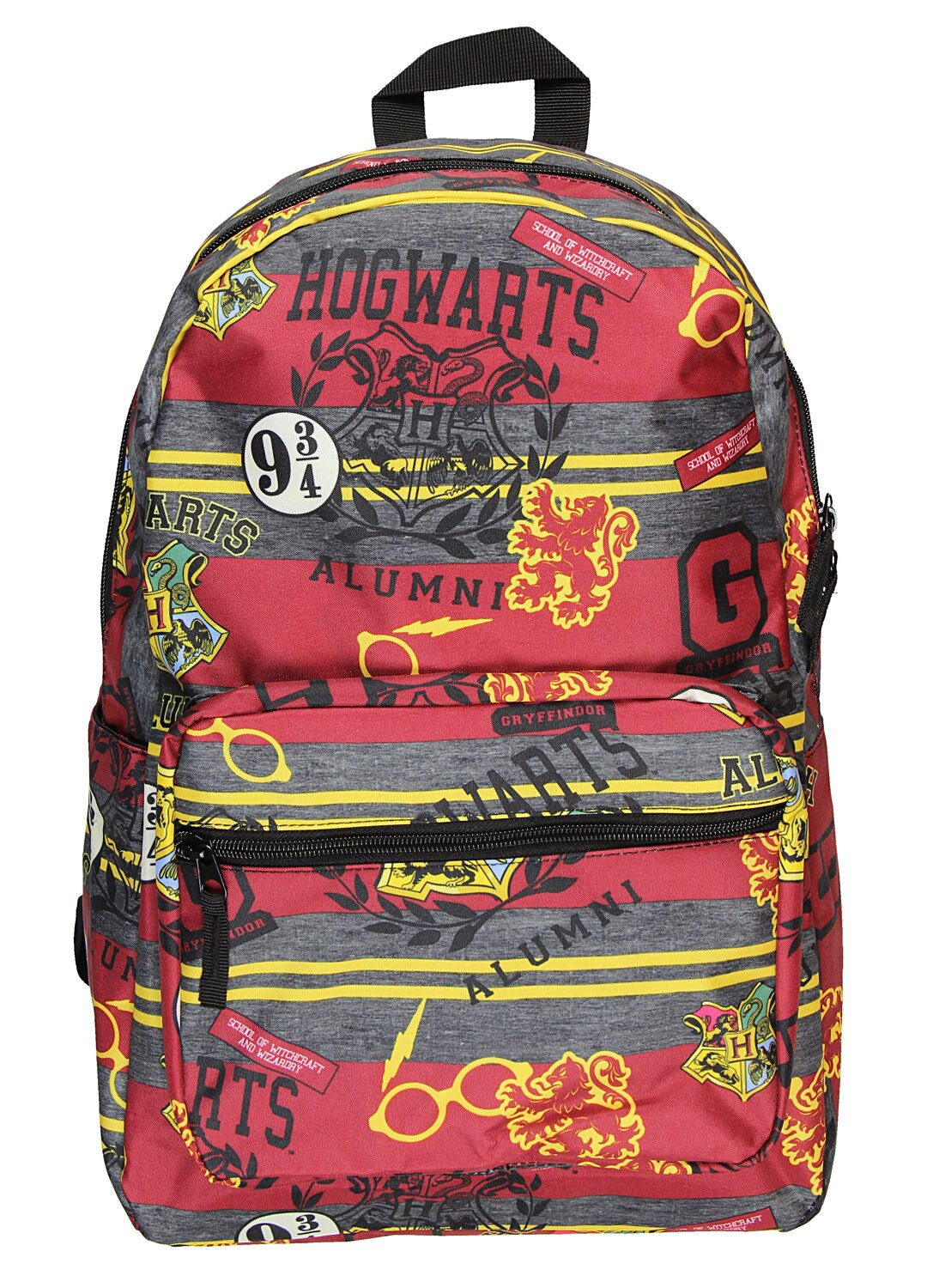 fc3bfb9e625b Harry Potter Hogwarts School of Witchcraft and Wizardry Alumni Patch  Gryffindor Allover Print Backpack Book Bag