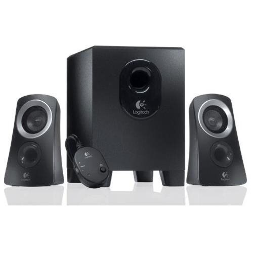 Logitech Z313 3 Piece 2.1 Channel Multimedia Speaker System - Black / Silver 0