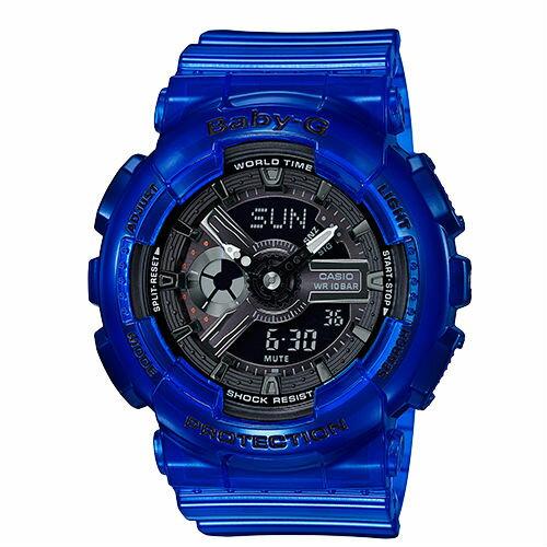 CASIOBABY-GBA-110CR-2ACORALREEFCOLOR海水藍主題對錶流行腕錶