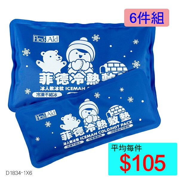【醫康生活家】菲德冰人冷熱敷墊(子母冰枕)►►✪✪6件組✪✪