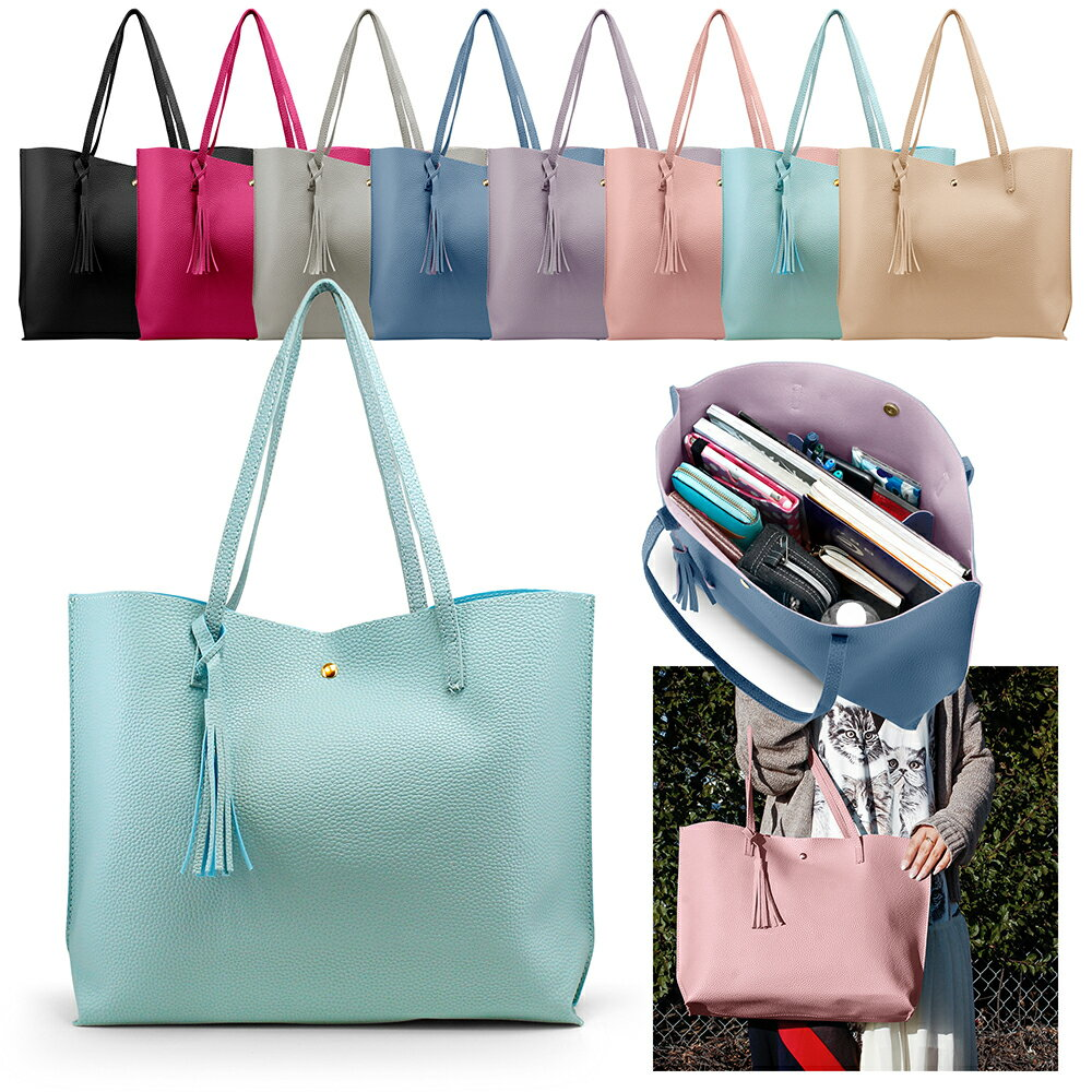 63cd1030f8 Women Tote Bag Tassels Leather Shoulder Handbags Fashion Ladies Purses  Satchel Messenger Bags 0