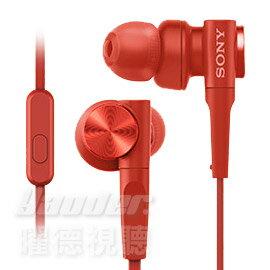 <br/><br/>  【曜德★新品】SONY MDR-XB55AP 紅 重低音入耳式 支援智慧型手機 ★免運★送收納盒★<br/><br/>