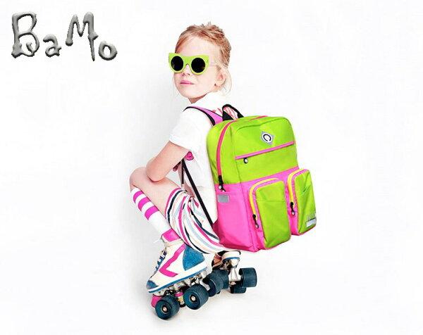 全球獨步710公克BaMo輕有鋁條隔層多-精靈綠100~150cm(1-6)護脊書包~胸扣腰扣超輕量軟包