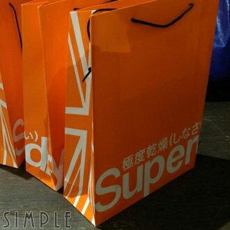 SIMPLE:現貨Superdry極度乾燥專櫃高磅數紙袋側面全版英國旗