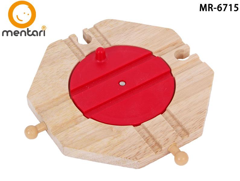 火車軌道配件-圓盤(十字路型) | Mentari 木頭火車系列