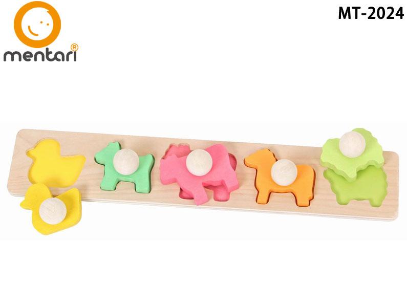 彩色牧場立體木拼圖 | Mentari 教育系列