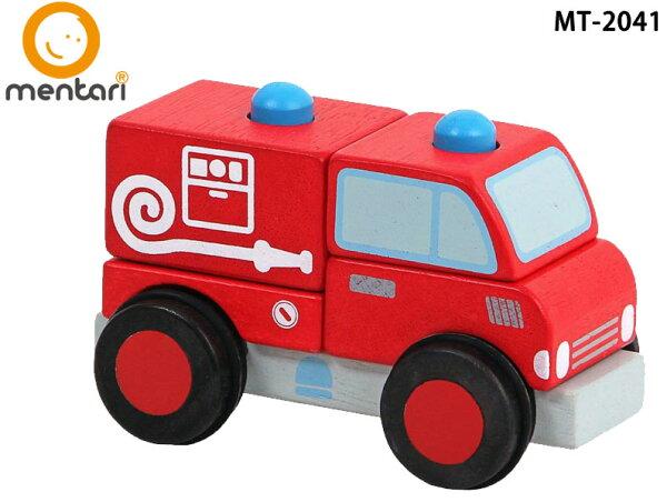 立體積木消防車